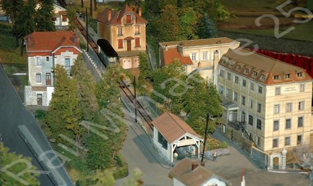 Funiculaire de Bregille à l'exposition - bourse de modélisme ferroviaire de Novillars