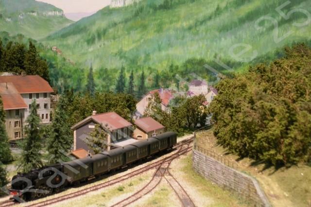 Vallée de la Loue à l'exposition - bourse de modélisme ferroviaire de Novillars